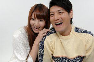 夫婦喜びの顔